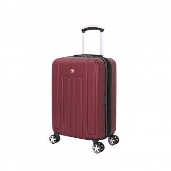 Чемодан wenger vaud, бордовый, с подставкой для кофе, абс-пластик, 36 x 24