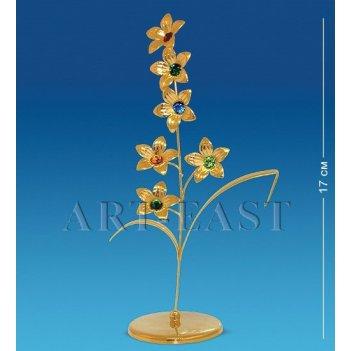 Ar-1223 фигурка ветка с цветами с цв.кр. (юнион)