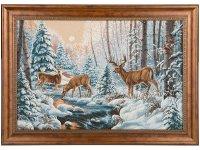 Гобеленовая картина костромской заповедник олени...
