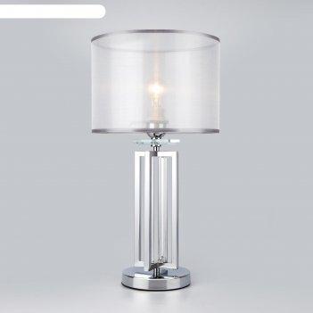 Настольная лампа fargo, 1x60вт e27, цвет хром