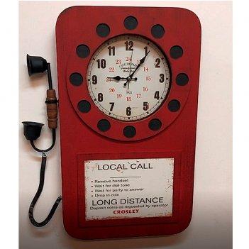 Настенные часы galaxy da-006 red