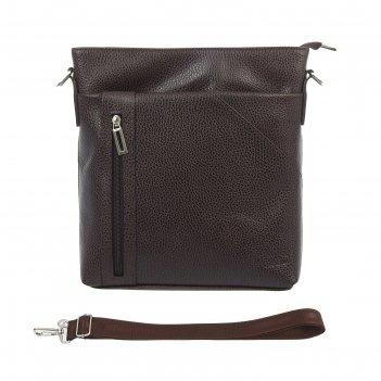 Сумка мужская, 1 отдел, 2 наружных кармана, регулируемый ремень, цвет кори