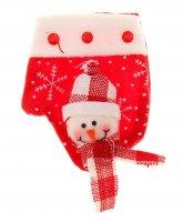 Варежка для подарка снеговик (снегопад)