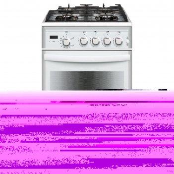 Плита газовая gefest 5500-03 0042, 4 конфорки, 52 л, газовая духовка,  бел
