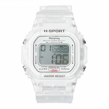 Часы наручные электронные самнер, спортивные, влагозащищенные, белые