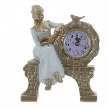 Часы настольные декоративные, l20 w11,5 h25 см, (1хаа не прилаг.)