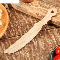 Нож для масла и икры, массив дуба 20х3 см
