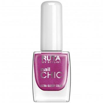 Лак для ногтей ruta nail chic, тон 89, лиловый блик