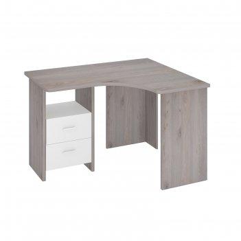 Угловой стол, 1000 x 1200 x 770 мм, левый угол, цвет нельсон/белый