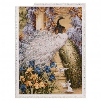 Гобеленовая картина павлиний дуэт 75*110 см