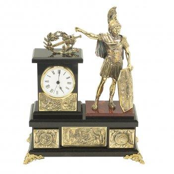 Часы цезарь бронза яшма долерит 260х120х340 мм 6400 гр.