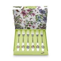 Набор десертных вилок «ботанический сад», 6 штук, размер: 15 см, материал: