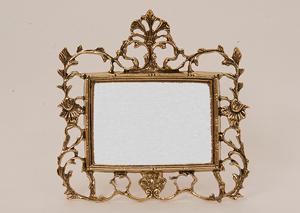 Фоторамка из бронзы маленькая горизонтальная золото 24х24см 4786