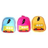 Мягкий рюкзак школьный автобус, цвета микс