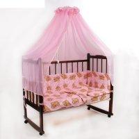 Комплект в кроватку 7 предмета сони розовый 10704