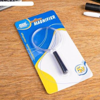 Лупа 5х, диаметр 65мм, ручка пластик
