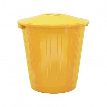 Бак с крышкой 70л желтый с крышкой