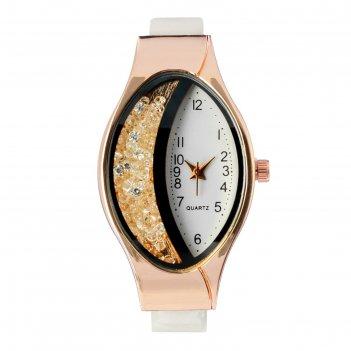 Часы наручные женские затмение, ремешок из экокожи, белые, микс