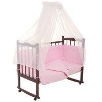 Комплект в кроватку 7 предмета горошки розовый 10703