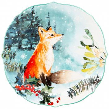 Тарелка закусочная lefard лесная сказка лиса 20,5 см (кор=24шт.)