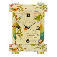 Часы настенные серия восток, циферблат прямоугольный птички и бабочки 33*4