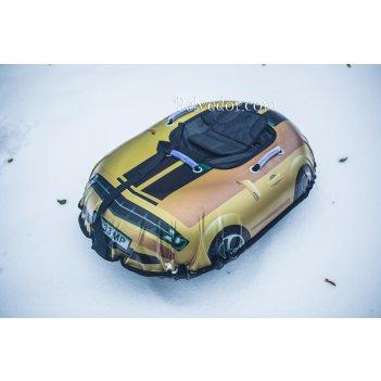 Ватрушка надувная snow car (вытянутые) желтая машина