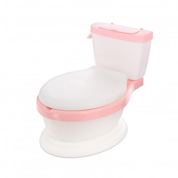 Горшок-унитаз детский, с мягким сиденьем, цвет розовый