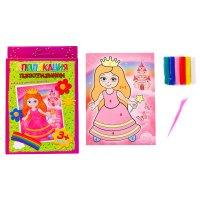Аппликация пластилином принцесса, 6 цветов пластилина по 10 гр
