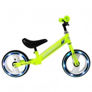 Беговел graffiti 10, колеса световые, цвет зелёный