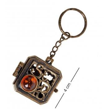 Am- 849 брелок медальон спб (латунь)