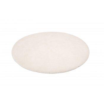 Меховой коврик-одеяло 130х130см milky