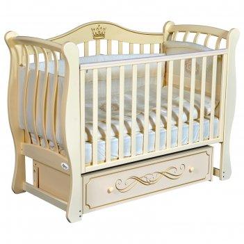 Детская кровать oliver daniella elegance, универсальный маятник, ящик, цве