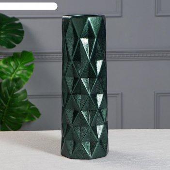 Ваза напольная поли, антик, зелёная, 41 см