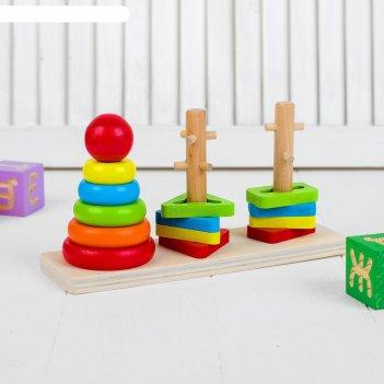 Пирамидка логическая геометрические формы