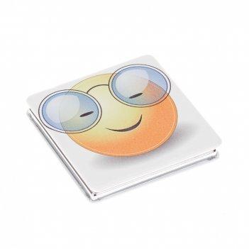 Зеркало dewal beauty серия смайлики  карманное квадратное, очкарик, размер