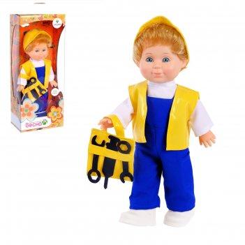 Кукла митя строитель со звуковым устройством, 34 см