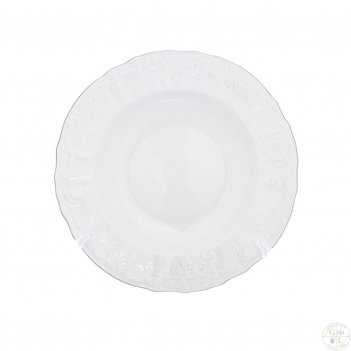 Набор тарелок глубоких bernadotte платиновый узор 23 см(6 шт)