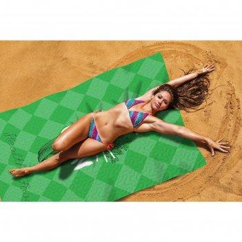 Пляжное покрывало «польза зелени», размер 145 x 200 см