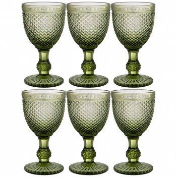 Набор бокалов для вина гранат 6шт. серия muza color 300мл. / в=17 см (кор=