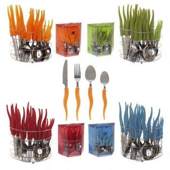 Набор столовых приборов на 6 персон(ложки, вилки, ножи), 24 ...