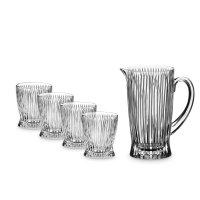 Набор из кувшина и 4-х стаканов для воды cold drinks, материал: хрусталь,