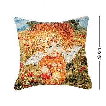 Ang-621/1 подушка гобеленовая ангел сладкой жизни 30х30