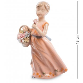 Cms-20/ 2 фигурка девочка с корзинкой (pavone)
