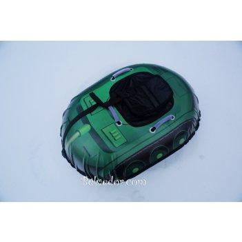 Ватрушка надувная snow car (вытянутые) зеленый танк
