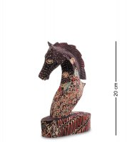 10-013-02 фигурка лошадь (батик, о.ява) сред 20см