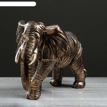 Статуэтка большая слон идущий 33 см