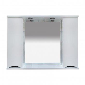 Шкаф-зеркало элвис -105 (свет) белая эмаль