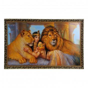 Картина львы 60*100 см