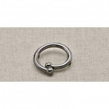 Пуговица металлическая, цвет чёрный никель (пм24)