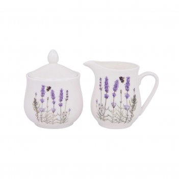 Ashdene набор сахарница и молочник i love lavender